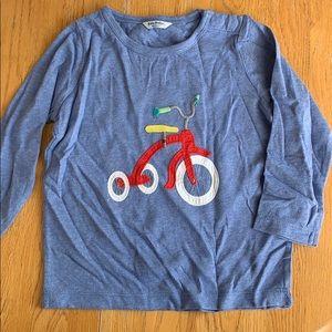 Fun mini Boden tricycle long sleeve shirt 18-24 m